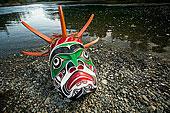 水下,面具,河,温哥华岛,不列颠哥伦比亚省,加拿大