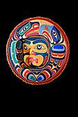 鹰,海狮,月亮,面具,猎捕,第一,国家,艺术家,西海岸,艺术,画廊,港口,北方,温哥华岛,不列颠哥伦比亚省,加拿大