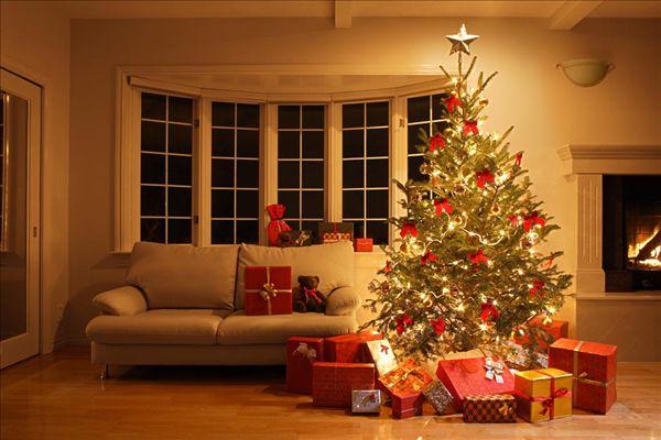 圣诞树,温馨,客厅