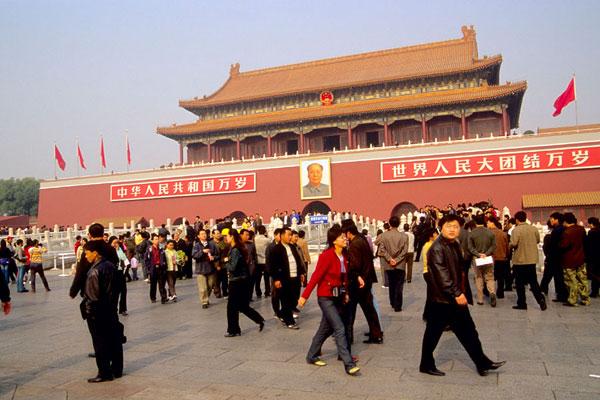 人群,毛泽东,天安门,北京,中国