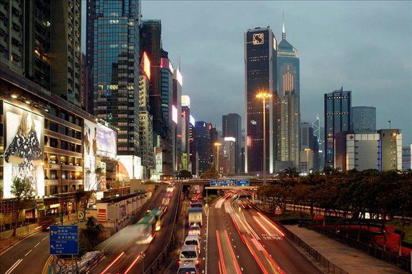 热闹街道,黄昏,铜锣湾,中心,香港岛,香港,中国,东南亚