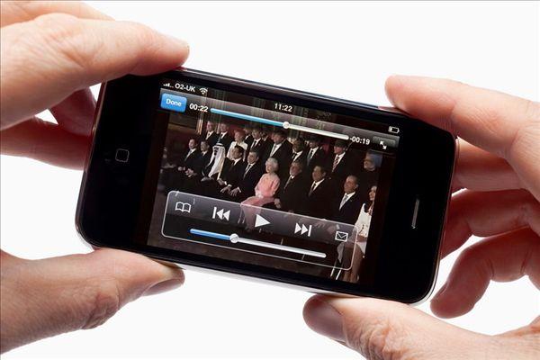 手机,苹果白点华为手机屏内有一个苹果图片