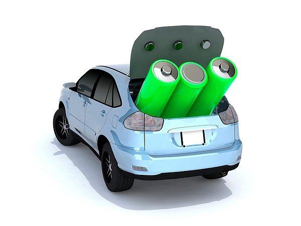 概念,电动汽车,绿色,电池