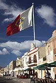 马耳他,东南部,马尔萨什洛克,水岸,建筑,旗帜