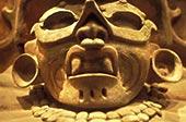 特写,雕塑,阿芝台克,神,国家博物馆,人类,墨西哥城,墨西哥