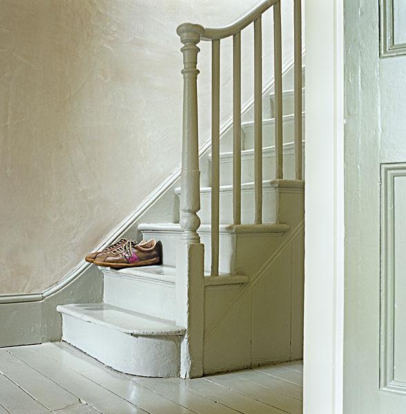 维多利亚时代风格,楼梯,栏杆,木地板,涂绘,彩色,20世纪80年代,ibm
