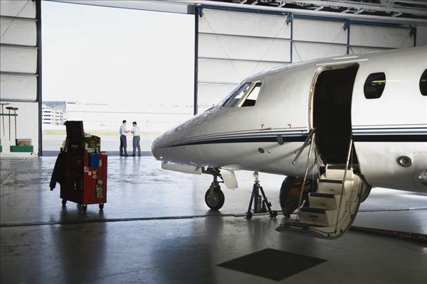 飞机,飞机库,男人,背景