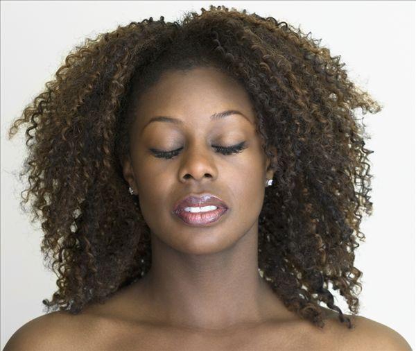 特写,非洲女人,闭眼