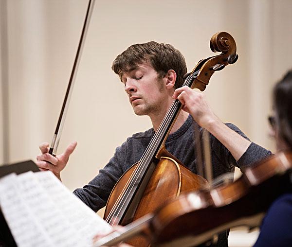 白人,学生,演奏,大提琴,弦,四重奏