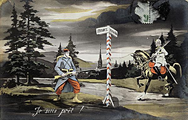 第一次世界大战,明信片,彩色