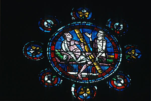 图片标题:西部,圆花窗,彩色玻璃