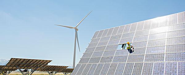 工作,检查,太阳能电池板