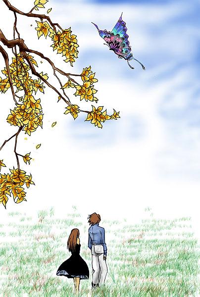 春天,我们去放风筝(原) - 雪卉 - 麦田中的呓语