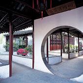 传统,中国,建筑,花园,城市,江苏