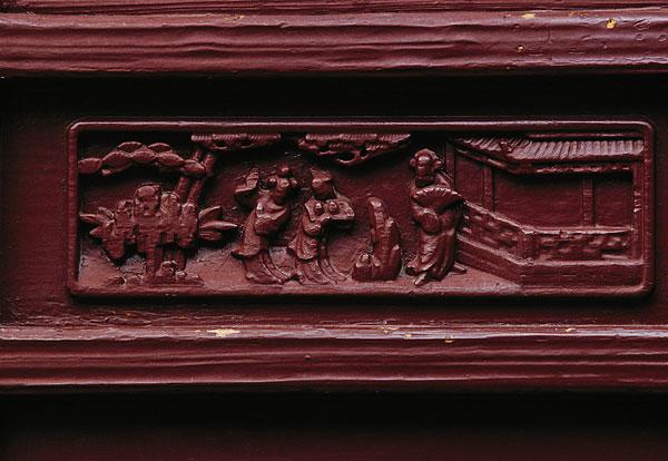 江苏苏州同里崇本堂正厅半窗裙板木雕