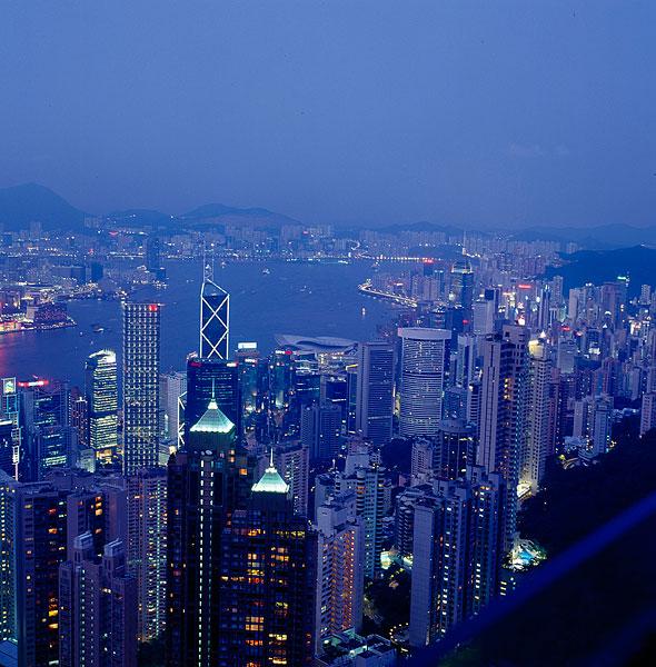 香港维多利亚港建筑群