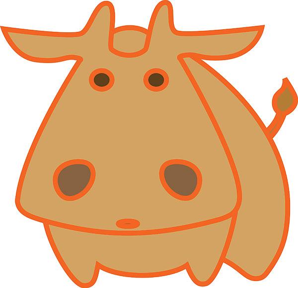 牛平面矢量图