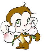 猴生肖插画图片