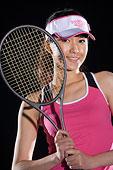 打網球的女孩