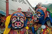 藏教法舞面具