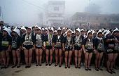 云南红河县的哈尼族支系奕车妇女独特的服饰
