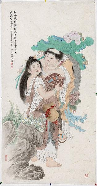 我喜欢分 享 标题: 中国画工笔画