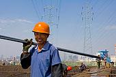 安徽合肥施工现场的钢结构