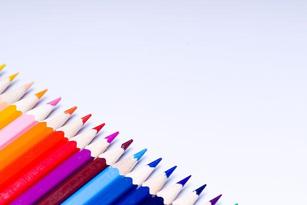 彩色铅笔素材-ppt背景