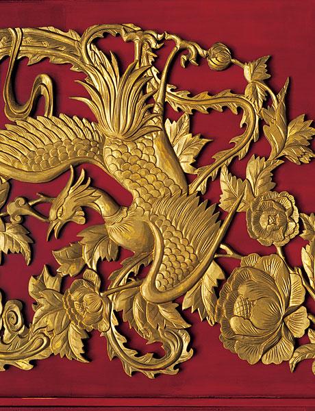 中国元素凤凰雕刻