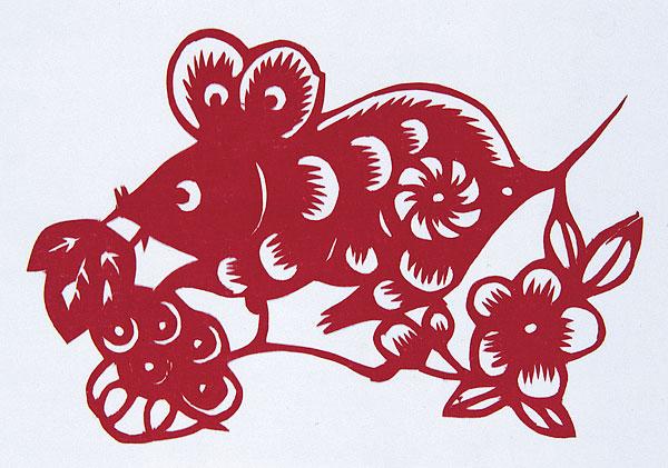 剪纸-十二生肖鼠