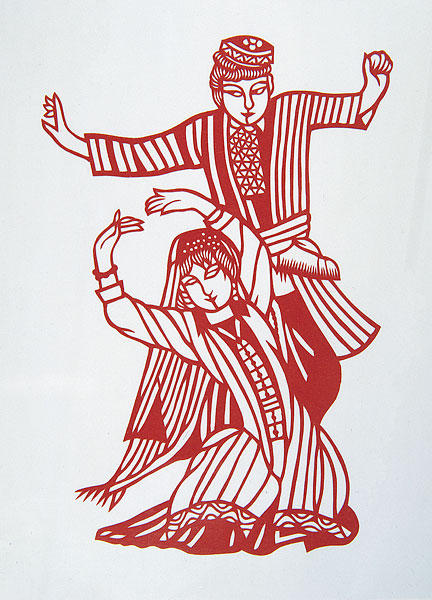 乌兹别克族剪纸-乌兹别克族图片
