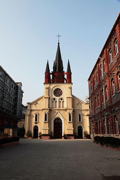 上海教堂-天主教若瑟堂哥特式近代建筑