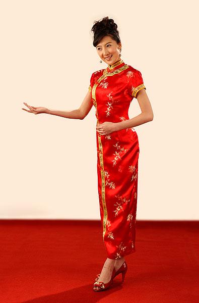 全景图片网:东方女人穿旗袍