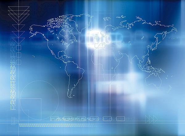 数码,背景,世界,地图