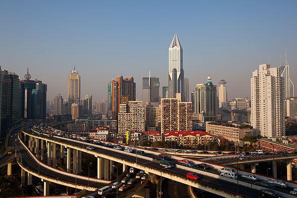 上海高架路图片