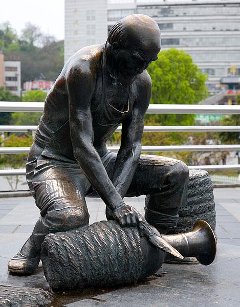 江西景德镇雕塑 高清图片