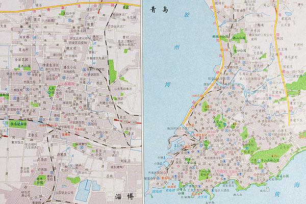 青岛淄博地图
