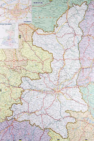 >陕西地图