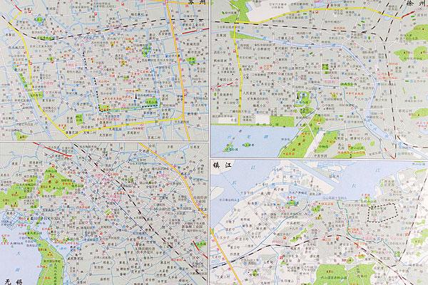 无锡镇江苏州徐州地图