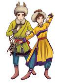 中国56个民族套图