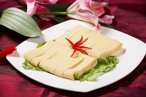 火锅配菜豆腐皮