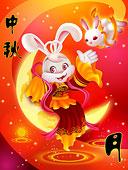 兔子 创意 嫦娥/插图嫦娥兔子下载相似预览购买...