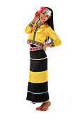 中国少数民族佤族女人