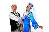 中国少数民族回族情侣