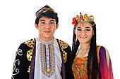 中国少数民族维吾尔族情侣