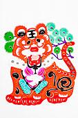 中国传统剪纸虎