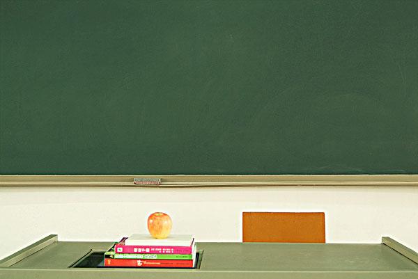 教师讲台黑板简笔画