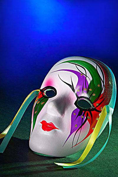 可爱的面具ppt