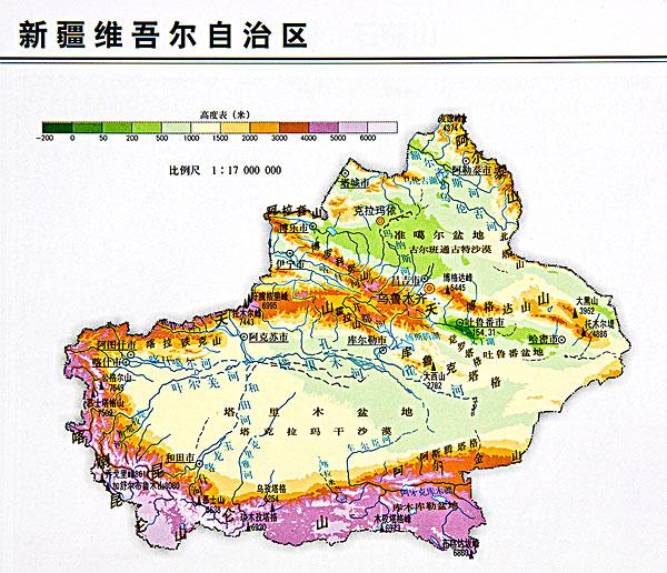 >新疆地图