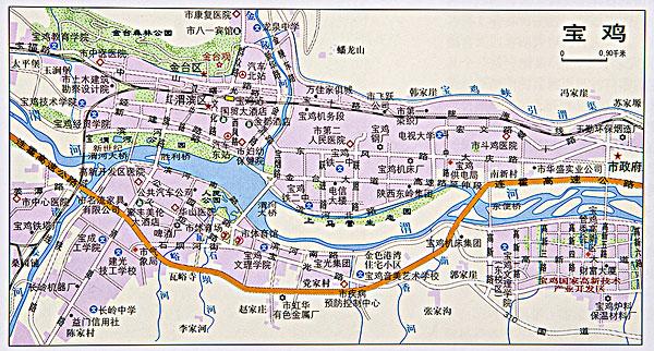 陕西宝鸡地图